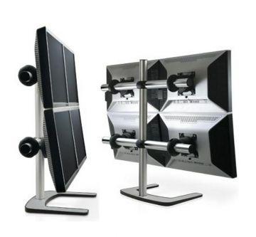 Visidec Freestanding Quad LCD Display